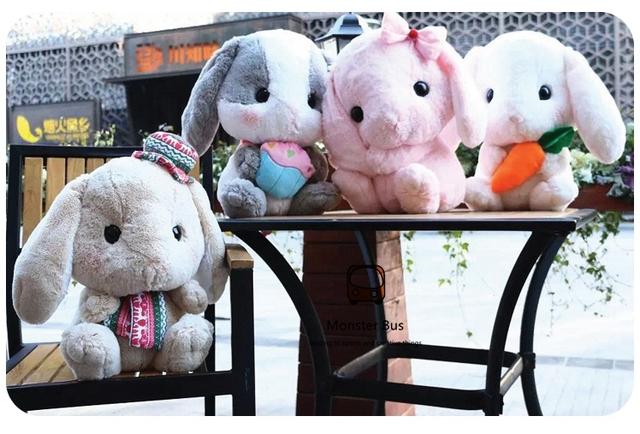 40 см Симпатичные Мягкие Lop Кролик Лолита Плюшевый Кролик Косплей Внутри принцесса Сладкий Кукла Свисающий Розовый Кролик Лук Застенчивый Кролик детская подарок