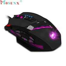 Beautiful Gift New Zelotes C-12 Programmable Buttons LED Optical USB Gaming Mouse Mice 4000 DPI Free Shipping May18