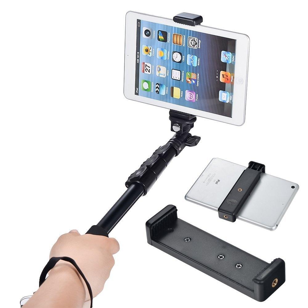 camera stand clip bracket holder tripod monopod mount adapter for ipad air 1 2 3 ebay. Black Bedroom Furniture Sets. Home Design Ideas