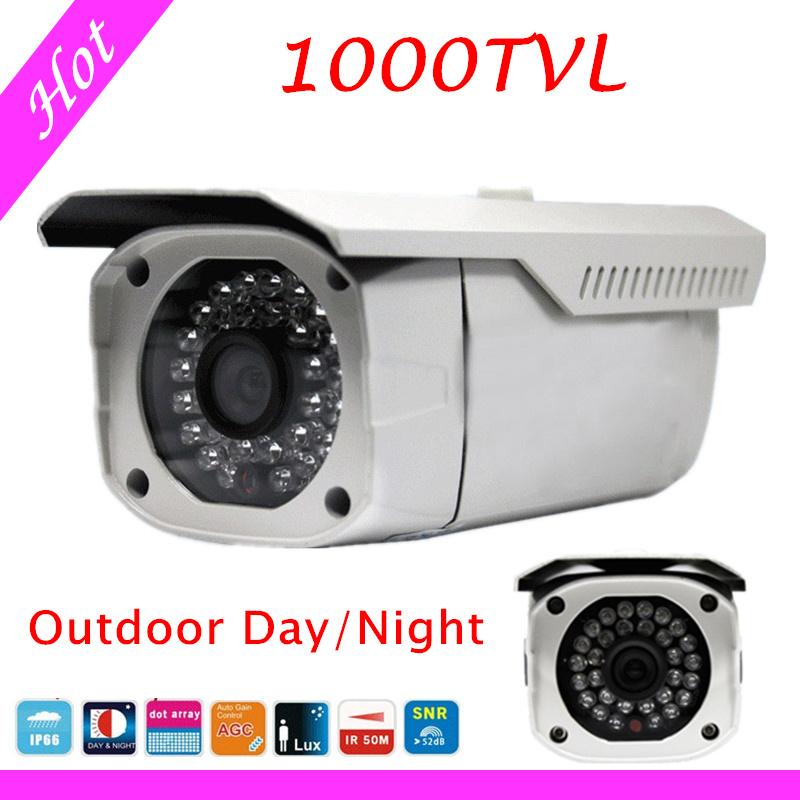 Free shipping 50M IR Night Vision 6mm lens HD 1/3SONY CCD CCTV Waterproof Security Outdoor Camera 328ft Long IR Range 1000TVL<br><br>Aliexpress