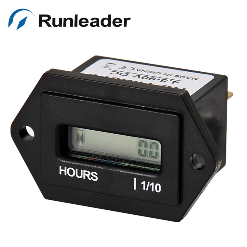 Engine Hour Meter : Free shipping pcs digital resettable engine hour meter