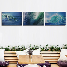 3 PCS Modern Printed Sea Wave Landscape Painting Picture Cuadros Canvas Art Seascape Painting For Living Room No Frame (China (Mainland))