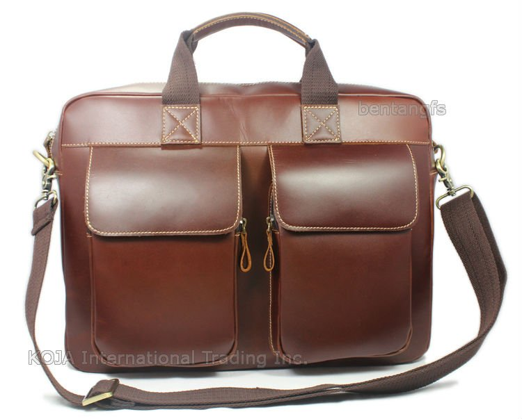 "Здесь продается  FREE SHIP- High Class Men Brown Italian Full Grain Leather Genuine Leather tote Briefcase Shoulder Bag Messenger 15""Laptop Bag  Камера и Сумки"
