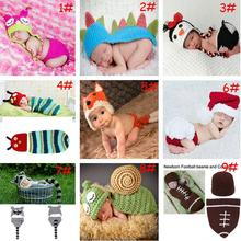 Retail Crochet Baby Animal Designs Baby Photography Props Knitted Infant Clothes Costume Newborn Crochet Outfits 1set MZS-14002(China (Mainland))
