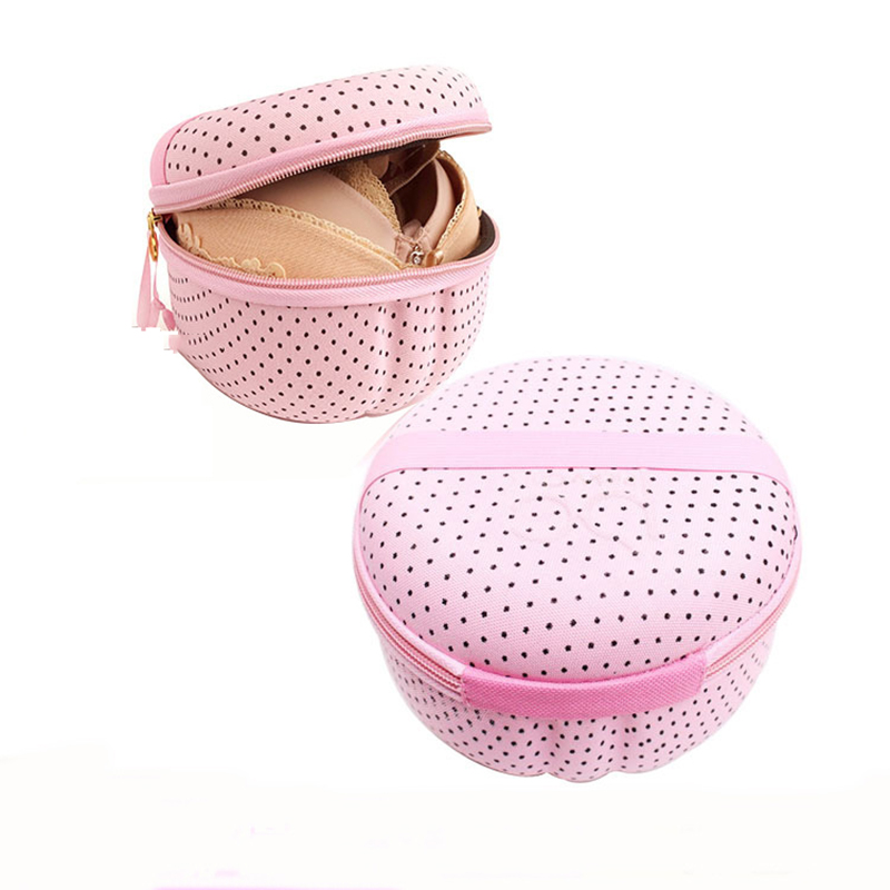 New Underwear Storage Bag Kit Portable Bra Pink Pattern Box With Zipper Waterproof Travel Accessories Travel Organizer Bag kit(China (Mainland))