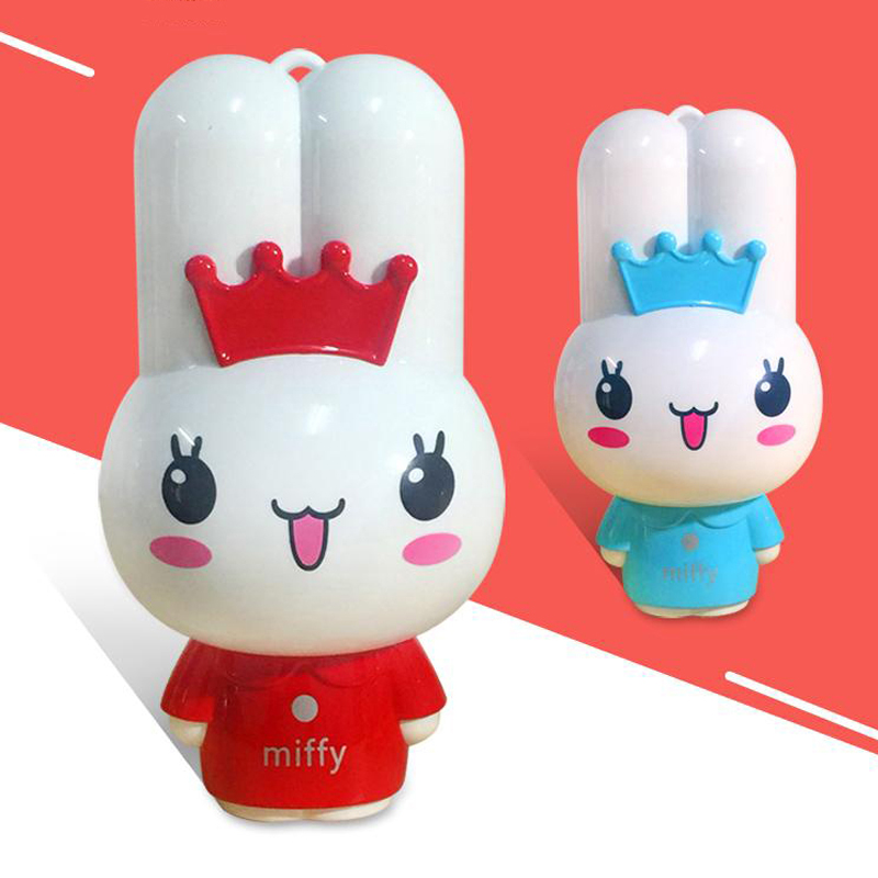 Cute Miffy Rabbit Power Bank 5500mah USB External Battery Pack Mobile Phone Backup Power Portable Powerbank Charger free ship