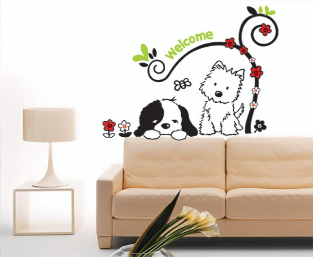 Charming Dog Decals For Walls Love Lived Forever Memorial Pet
