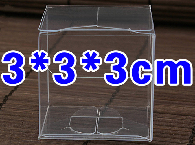 20pcs 3*3*3cm Transparent waterproof PVC boxes Packaging small plastic Clear box storage for food/jewelry/Candy/Gift/cosmetics(China (Mainland))
