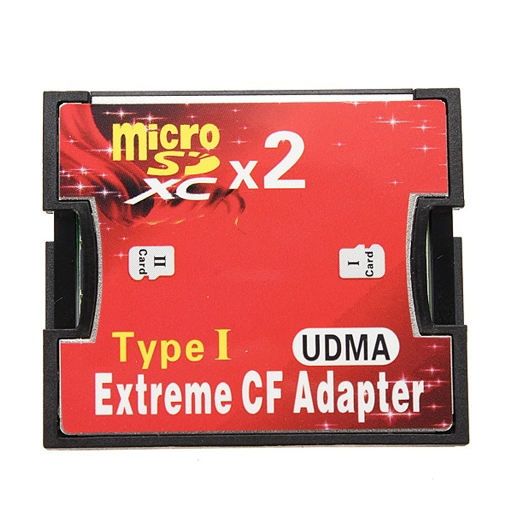 2 Port Micro SD TF to CF Adapter MicroSD MicroSDHC to Compact Flash Type I Memory Card Reader Converter(China (Mainland))