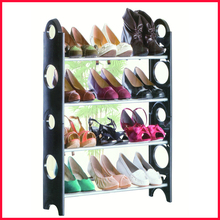 Free Shipping 4 Tier Shelf Shoe Rack Organiser Stand Cupboard For 12 Pairs Shoes Easy Assembly(China (Mainland))