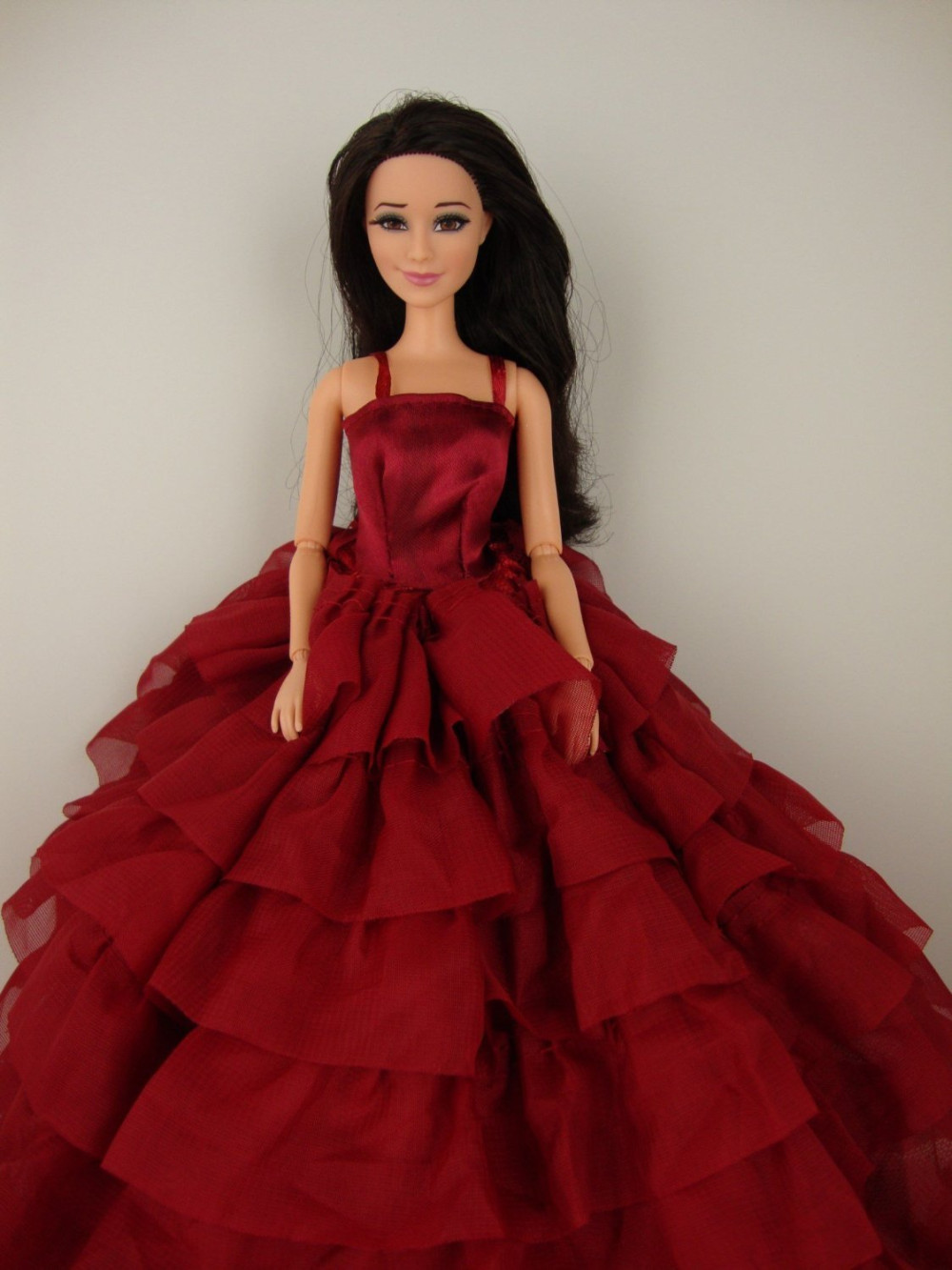 Deep Pink Robe with Layers of Ruffle Particulars Made to Match the Barbie Doll Nice Kids Reward