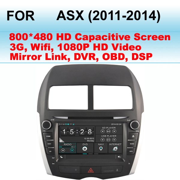 For Mitsubishi ASX Car Radio (2011-2014) Support WiFi and 3G,GPS Support Dual Zone (Listen Radio/CD While GPS Image)(China (Mainland))