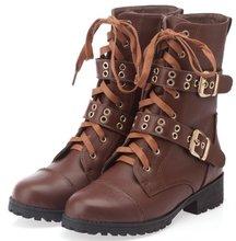 Envío libre tobillo media cortos verdadero natural cuero genuino del alto talón mujeres nieve zapatos de la bota R4917 tamaño del EUR 34-43(China (Mainland))