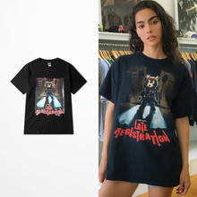 Buy Kanye Red Goddess Tide Brand T Shirt Retro High Street Skateboard Dead Fly Harajuku Loose Top Tee Lovers Couple Cotton Trasher for $12.04 in AliExpress store