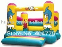 Inflatable moonwalk HACA040 with size 4mLx4mW+1 CE/UL blower+1 repair kit+free shipping(China (Mainland))