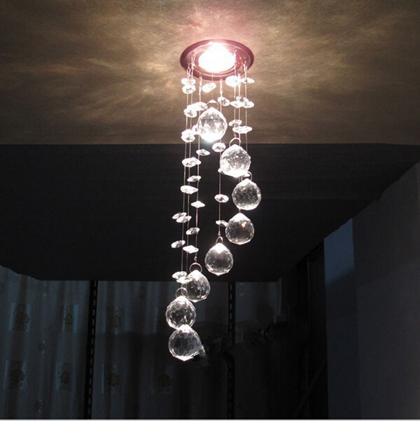 Modern Ceiling K9 Crystal Ceiling light LED lamps contain crystal ceiling dining room suitable voltage 90-260V(China (Mainland))