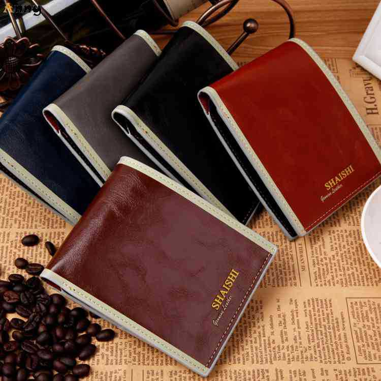 ANNY-Unique Hollow Out Inside Short 2 Folds Waxy PU Italian Leather Wallets For Men,Vintage Fashion Business Male Monederos,(China (Mainland))