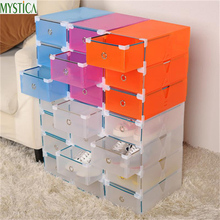 NEW5PCS Eco-Friendly Shoe Storage Box Case Transparent Plastic Storage Box Rectangle PP Shoe Organizer Thickened drawer Shoe Box(China (Mainland))