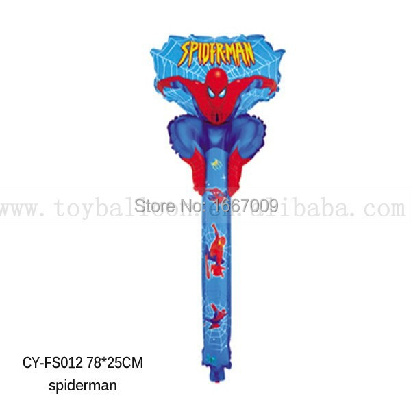 Original Quality Spiderman Party Decoration 20pcs/lot Spiderman Clapper Balloons Foil Balloons Mylar Balloons Party Supplies(China (Mainland))