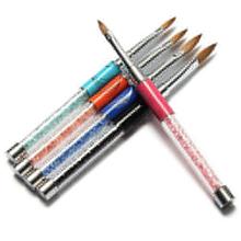 Hot Selling Pro Carve Marble Nylon UV Gel Acrylic Nail Art Tips Pen Painting Drawing Brush 5GS4 7GUV(China (Mainland))