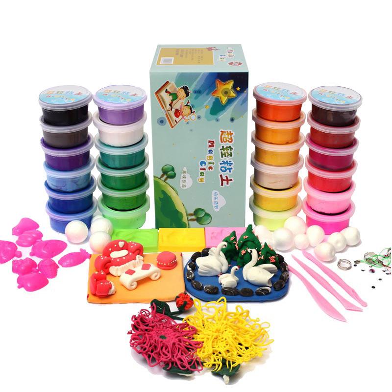 Гаджет  24 color ultra light clay Suit educational/creative diy clay toys children  G020 None Игрушки и Хобби