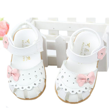 Baby girls Genuine leather sandals,Baby shoes for girls,baby Toddler shoes soft leather kid bow princess girls sandals