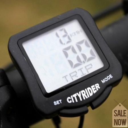 New Sporting Cycling Bicycle bike LCD Computer Odometer Speedometer Waterproof Black ZMB013(China (Mainland))