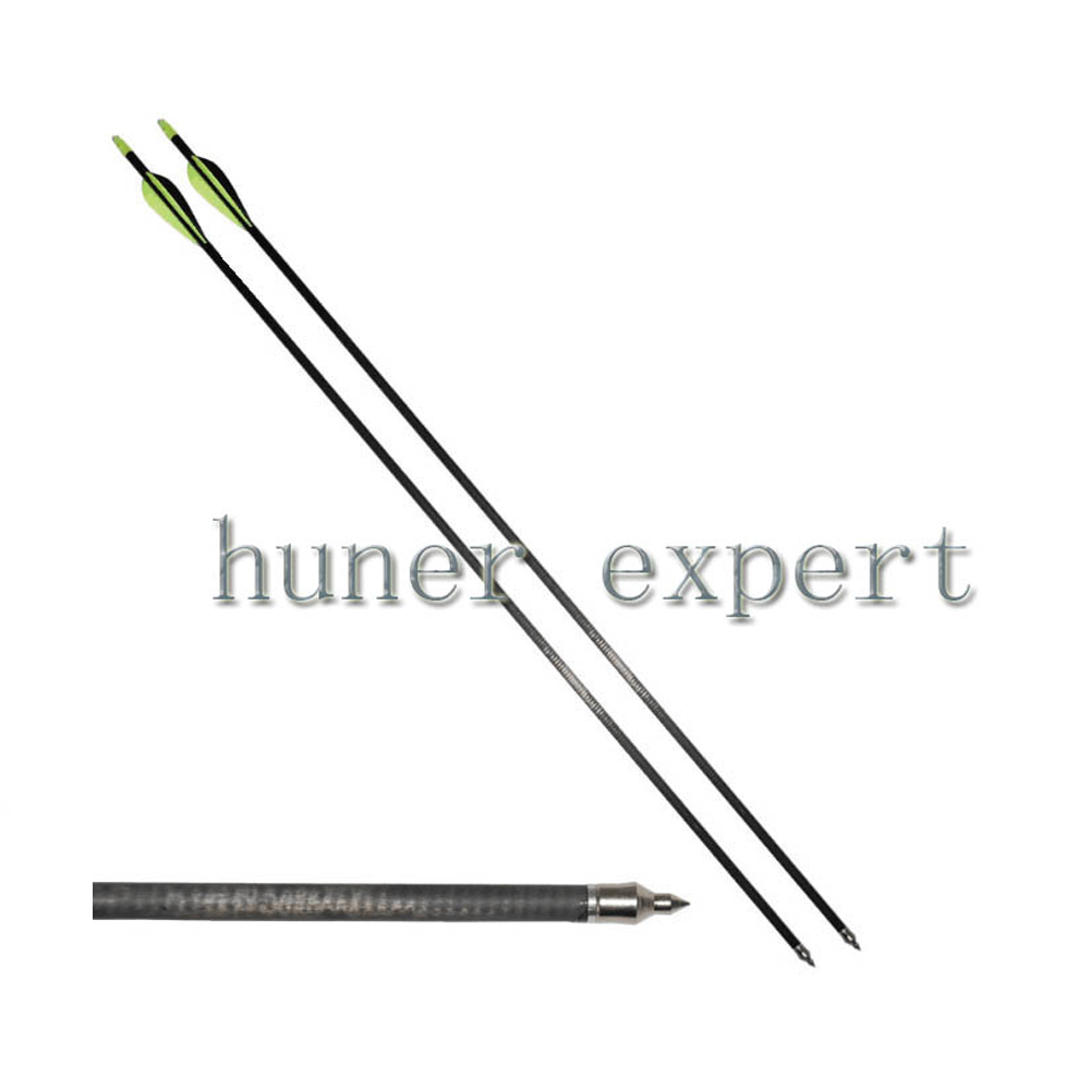 50x china manufacturer aftermath archery carbon arrow w 3x bullseye blazer vane 100grain arrow head point target hunting<br><br>Aliexpress
