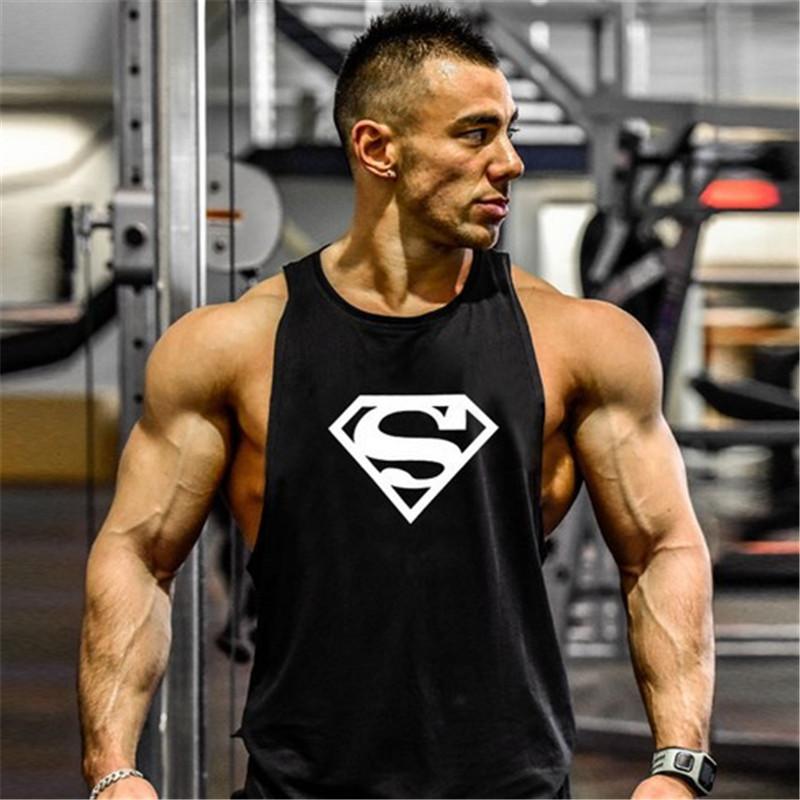 Bodybuilding Gym Men Fitness Shirts Cotton Men Tank Top Gym Workout Men Sport Tank Top Brand Tank Tops Sleeveless Vest Clothing(China (Mainland))