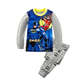 Spring Autumn Easter Boy Children Clothing Set Super Hero Batman Superman T Shirt Pants Boy Clothes