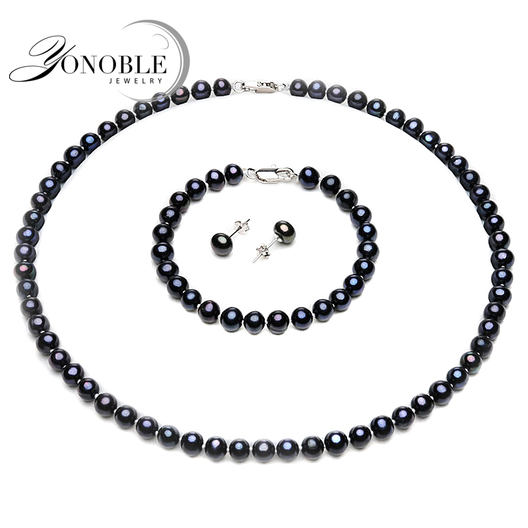 YONOBLE,pearl jewelry set ,
