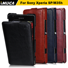 Buy iMUCA Flip Leather Case Sony Xperia SP Case Sony Xperia SP M35h C5302 C5303 C5306 Case Cover Fashion Luxury Phone Cases for $5.99 in AliExpress store
