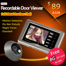Full Aluminum Case 3.0 inch Camera Video Door Bell Video Eye with Motion Detect and Photo Snapping