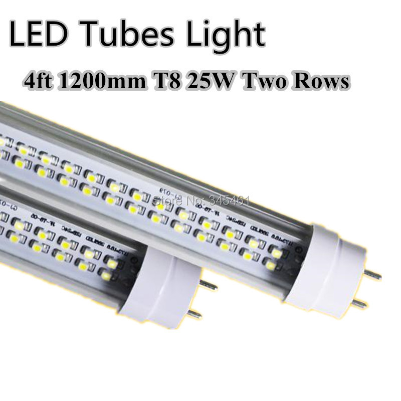 50PCS LED Tube 25W 4ft T8 Double Line LED Lamps Replacement 50W Fluorescent Tubes 1200mm Warm/Cold White SMD 2835 LED tube Light<br><br>Aliexpress