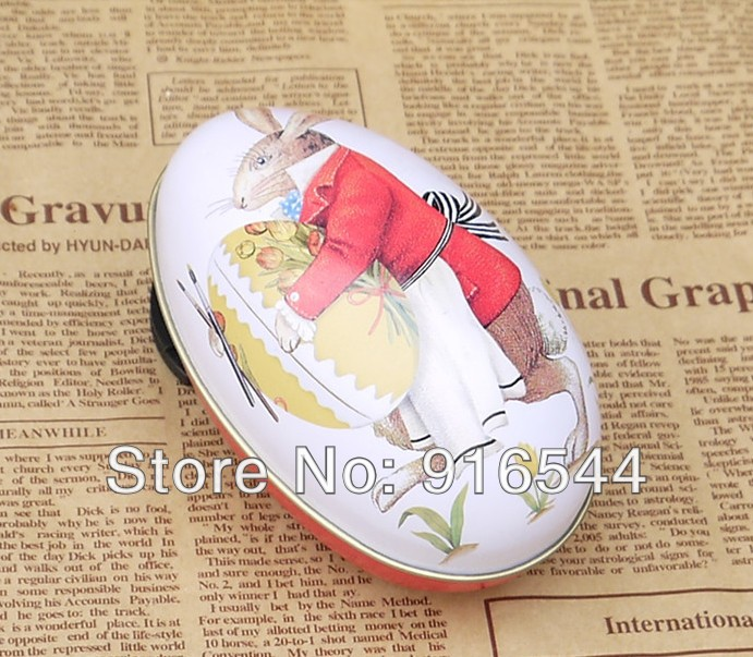 2015 New Easter Tin Boxes Kids Party Accessories Trinket Gift Storage Candy Box Decoration Xth03-10(China (Mainland))