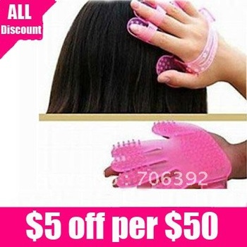 Free Shipping Head Scalp Massager Wash Brush Plastic Comb Cleaning 1pcs/lot