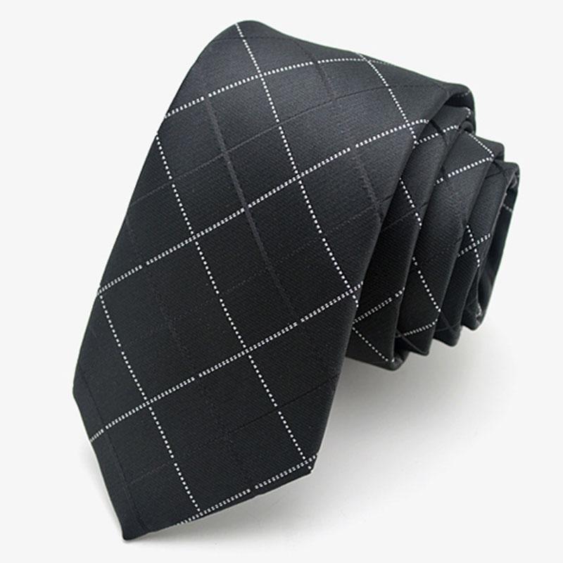 Black narrow tie solid floral geometric font b plaid b font striped 5cm casual neck tie