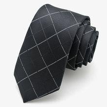 Black narrow tie solid floral geometric plaid striped 5cm casual neck tie slim skinny for men wedding bridegroom party club