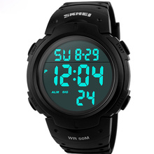 Skmei Luxury Brand Mens Sports Watches Dive 50m Digital LED Military Watch Men Fashion Casual Electronics Wristwatches Hot Clock(China (Mainland))