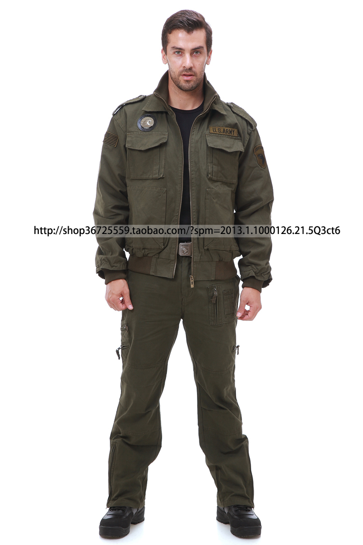 us army military uniform men outdoor clothing camping BK Army Green jacket pants - Hui Peng's store