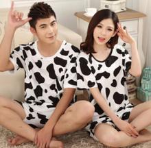 14 models Hot Selling home wear leisure cartoon tracksuit short-sleeve men women tops+shorts pajama set couple briefs free ship(China (Mainland))