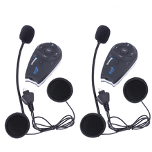 2 pcs/lot V5 Helmet BT Interphone 5 Riders Motorcycle Accessories 1200M Bluetooth intercom headset FM Headphone Free Shipping!