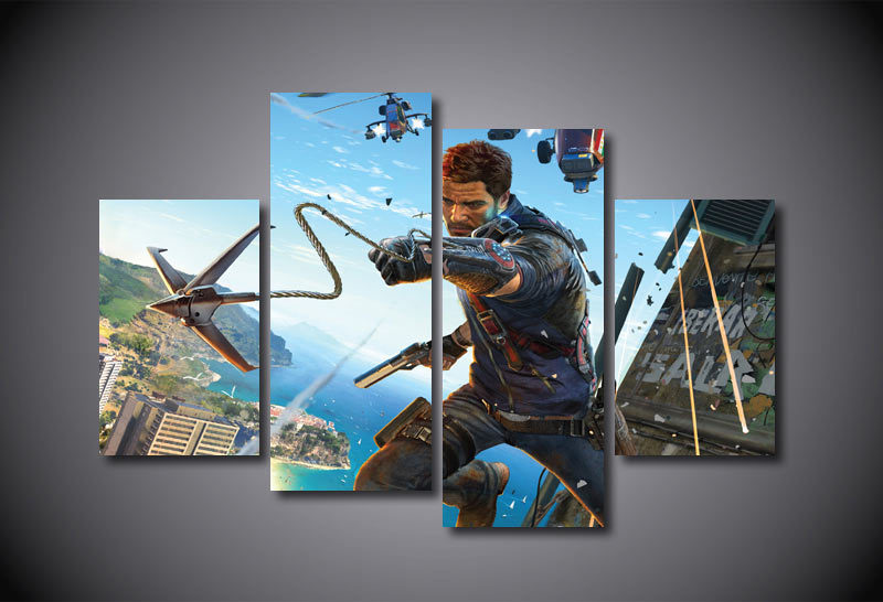 Framed printed just cause 3 game painting on canvas room for Room decoration 3 game