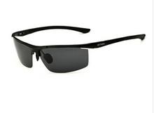 Aluminio y magnesio gafas de sol polarizadas hombres recubrimiento espejo de conducción gafas de sol oculos gafas accesorios