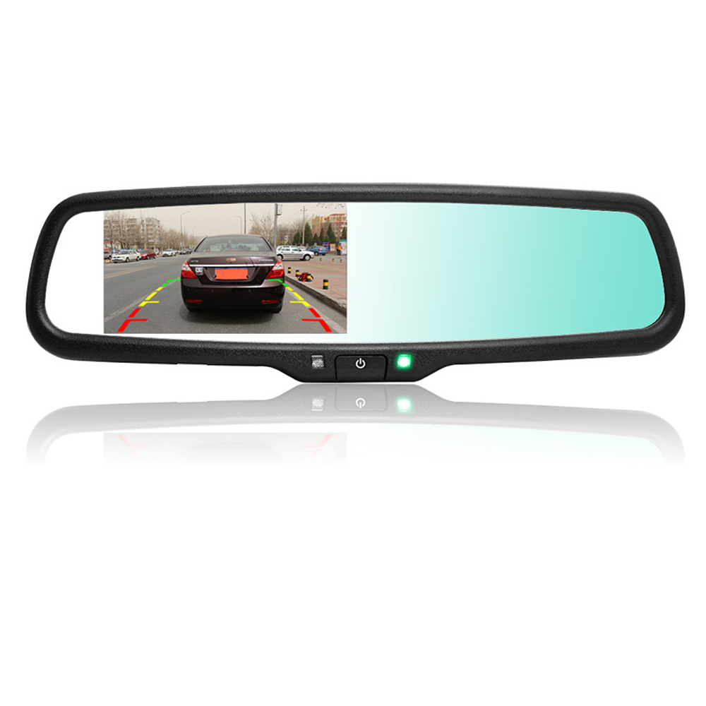 Auto Dimming Rear View Mirror Monitor 4.3 Inch 800*480 Resolution TFT LCD Color Car Monitor Built-in Special Bracket(China (Mainland))