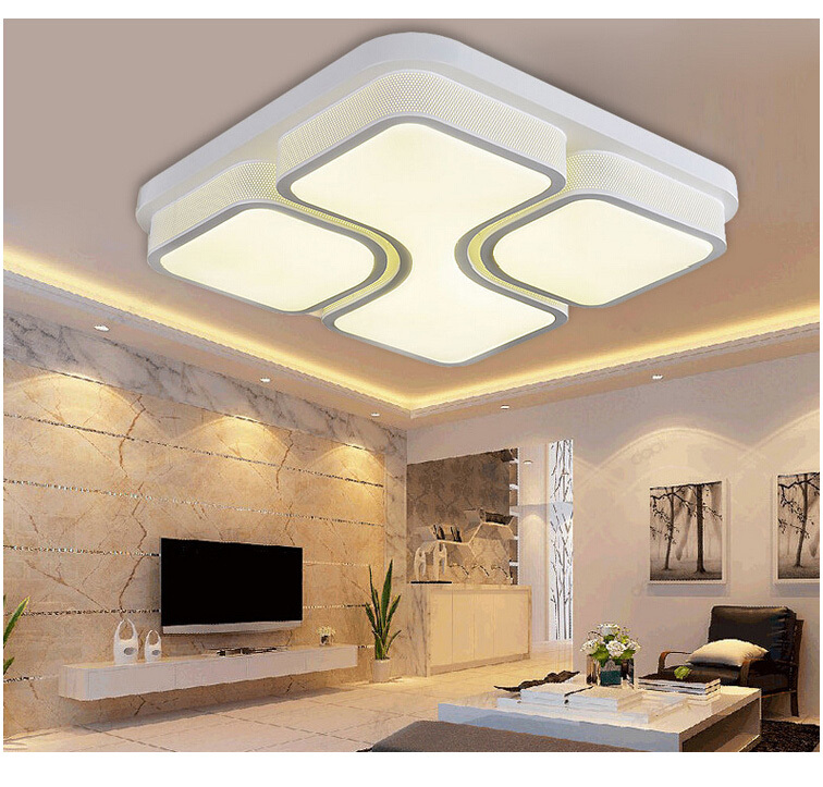 24W 36W 48W Crystal Ceiling Modern Lamp House Lighting Bedroom Living Room Study Kitchen Lamp Indoor Light Decoration(China (Mainland))