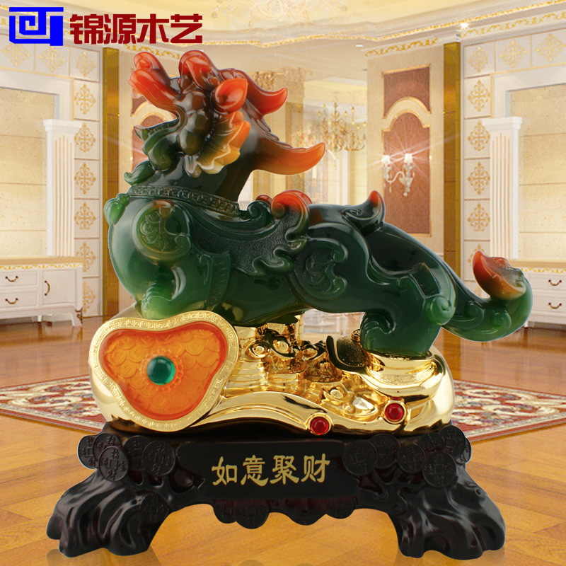 Jinyuan wooden resin crafts plating gold Ruyi enrichment craft ornaments shop Home Furnishing brave(China (Mainland))
