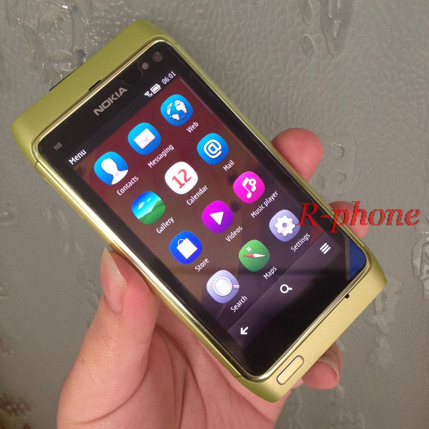 "Original Nokia N8 Mobile Phone 3G WIFI GPS 12MP Touchscreen 3.5"" Unlocked 16GB n8 Smartphone(China (Mainland))"