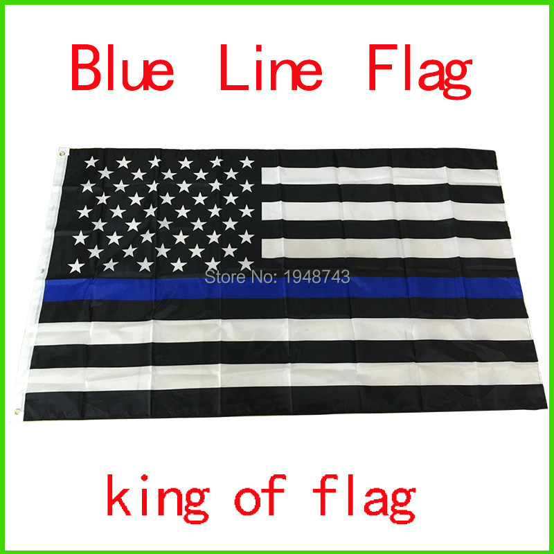 50pcs Wholesale Police ,Cops Flags Flags, 3*5 Foot Thin Blue Line USA Flag Black, White And Blue American Flag With Grommets(China (Mainland))