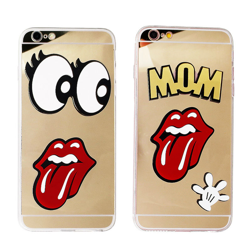 Phone Case for iPhone 6 6s Plus 6Plus Coque Capinha Cover Luxury Mirror Silicone Cute 3D Soft Tpu Bling Funny Gold Women Girls(China (Mainland))